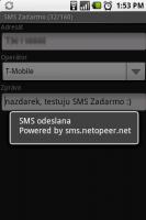 SMS odeslána