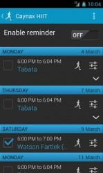 Týdenní rozpis cvičení