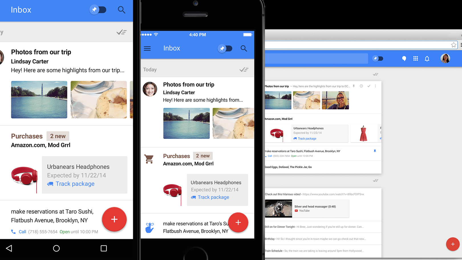 Inbox - chytré emaily podle Googlu