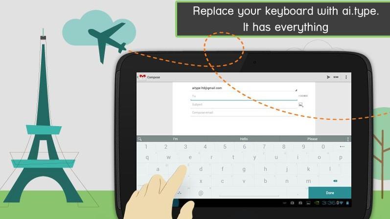ai.type Keyboard Free - solidní klávesnice zdarma