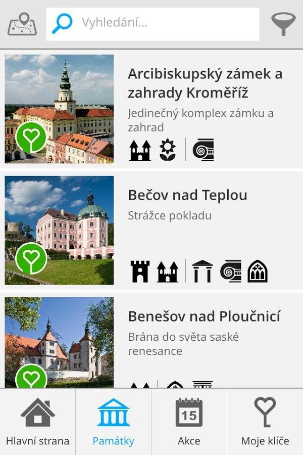 Klíč k památkám - turistický pomocník