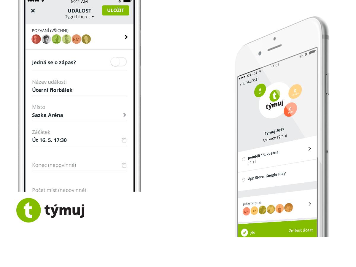 Aplikace Týmuj má univerzální řešení šité na míru sportovním týmům