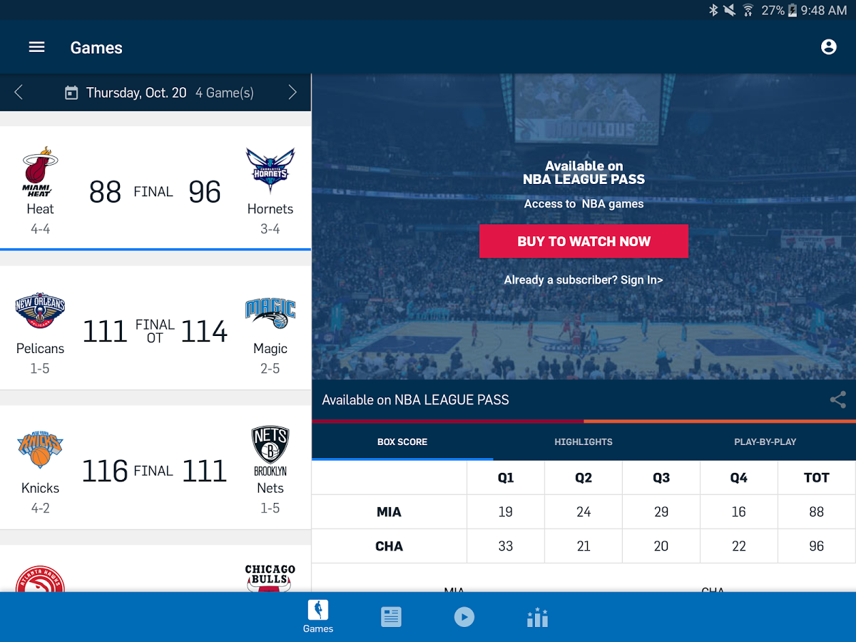 Oficiální aplikace NBA má snad vše, co fanoušek basketbalu ve svém chytrém telefonu potřebuje