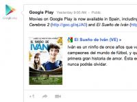 Filmy na Google Play se dostávají do více států, ČR chybí