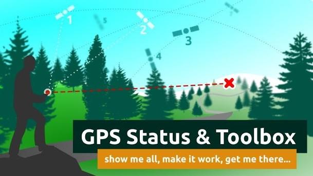 GPS Status & Toolbox - buzola po smartphonsku