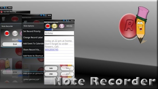 Note Recorder - pamatujte textem i hlasem