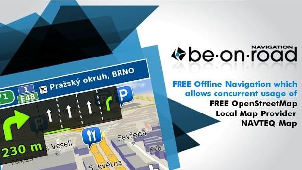 GPS navigace: BE-ON-ROAD - offline navigace zdarma z řadou podkladů