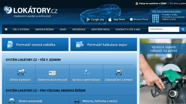 Lokatory.cz - sledování vozidel a elektronická kniha jízd