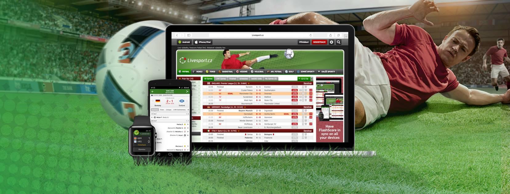 Aplikace Livesport je výsledkový vánoční dárek pro sportovní fanoušky a sázkaře
