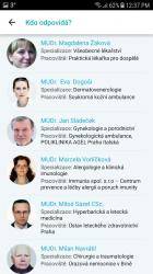 Seznam odpovídajících lékařů