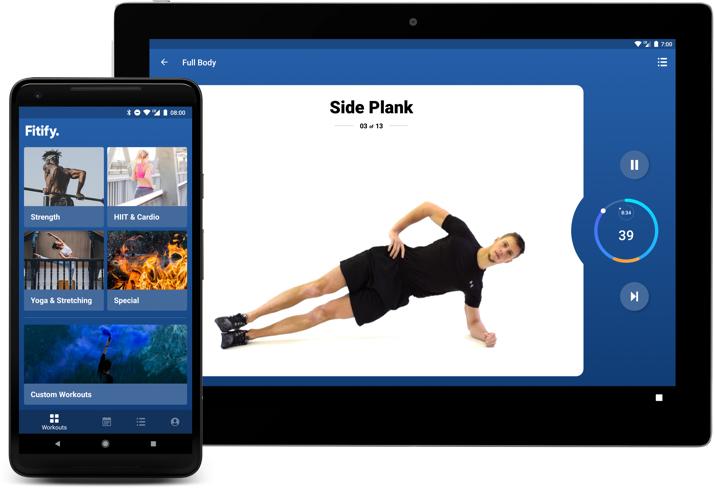 Dojděte až na vrchol! Další ze série aplikací Fitify se zaměřuje na cvičení s váhou vlastního těla