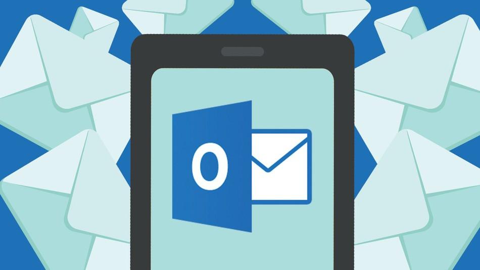 Aplikace Outlook je podobná webové schránce. Umí snadno propojit více e-mailových schránek, synchronizace je však horší