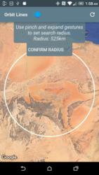 Výběr radiusu