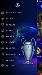 Takto vypadá menu aplikace