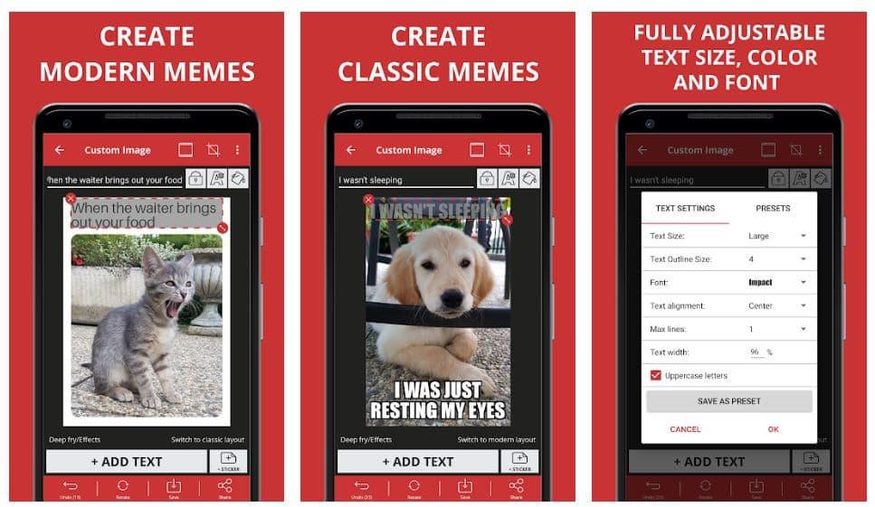 Meme Generator Free je ideální aplikace pro všechny tvůrce memů díky sadě funkcí, která je přesně ušita na míru svému účelu