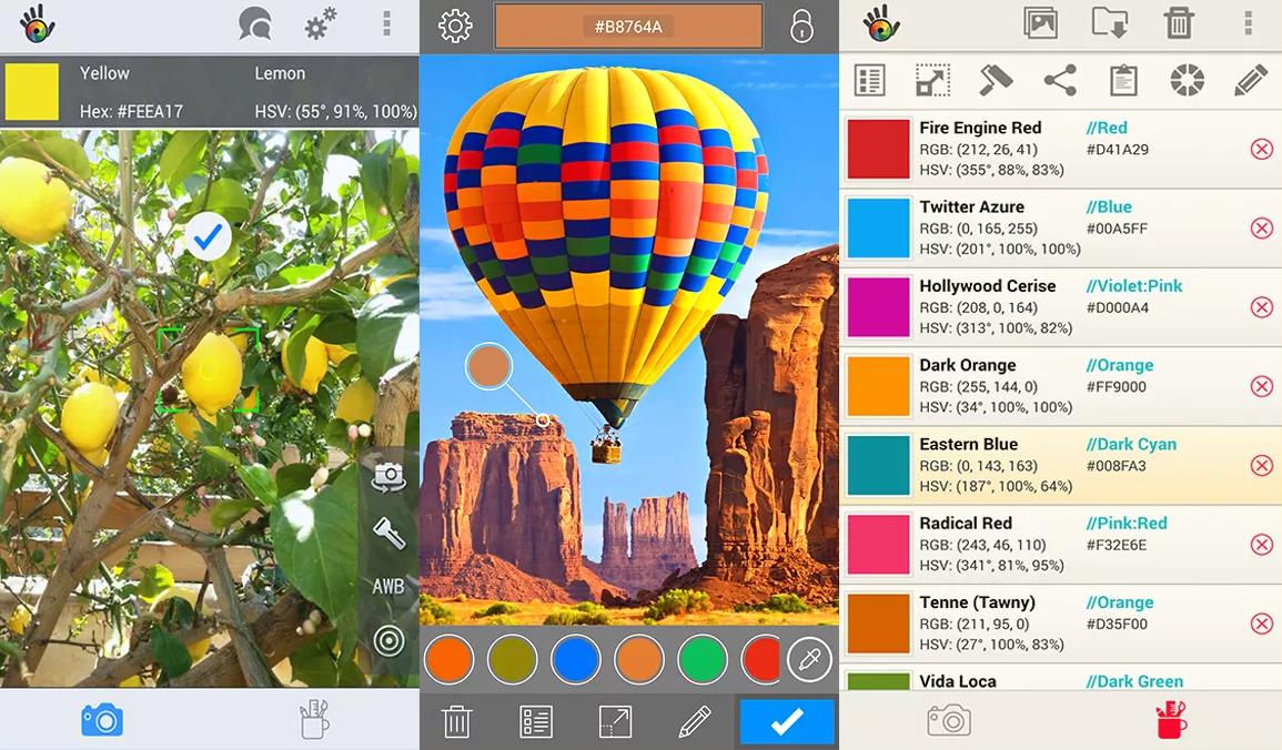Aplikace Color Grab je jako kapátko pro skutečný svět. Aplikace poslouží grafikům, lidem, co si vybavují byt i barvoslepým