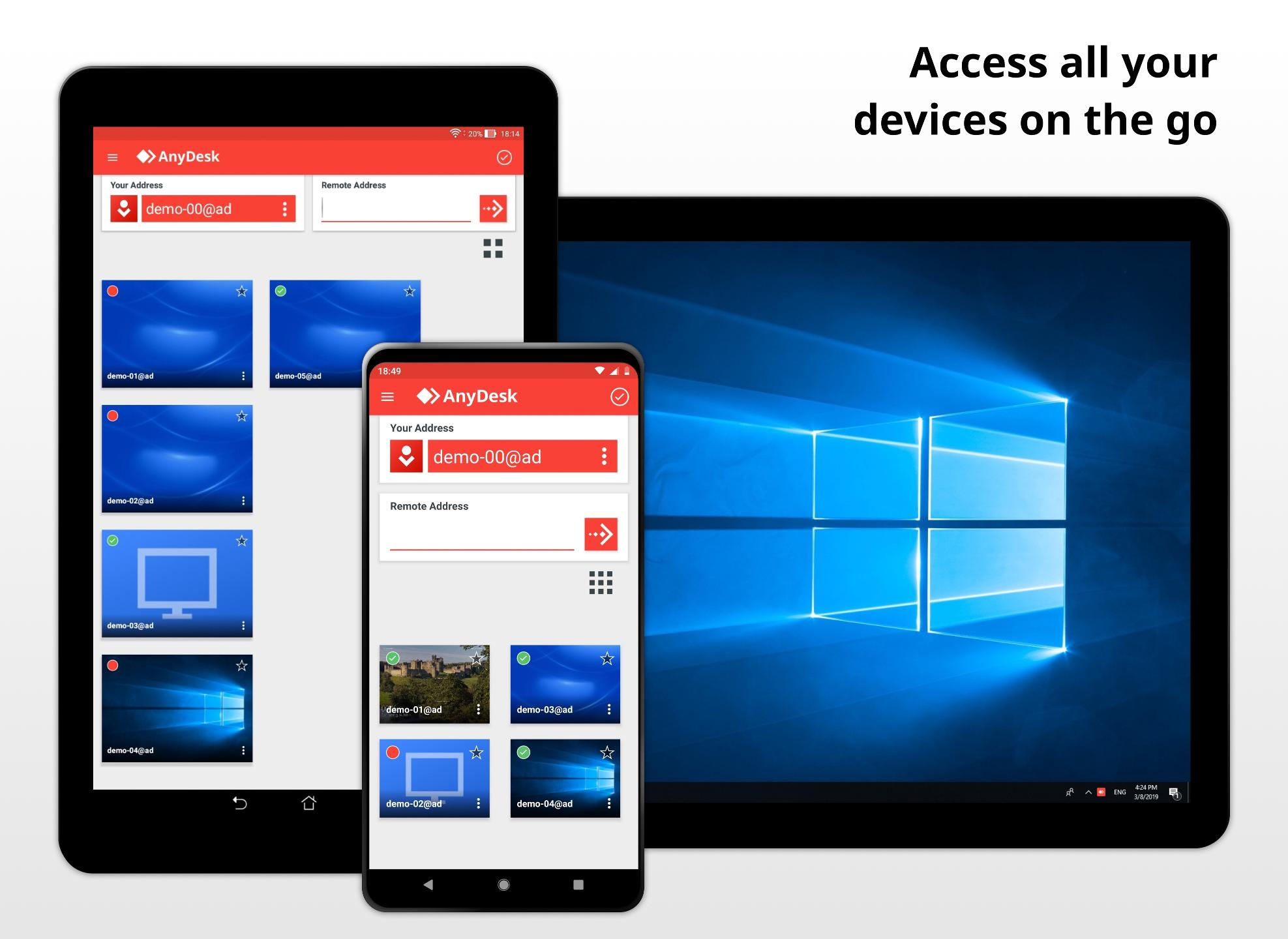 S aplikací od AnyDesk můžete propojit počítač s mobilem nebo tabletem. Synchronizace funguje skvěle, můžete přenášet obraz, zvuk i na dálku ovládat