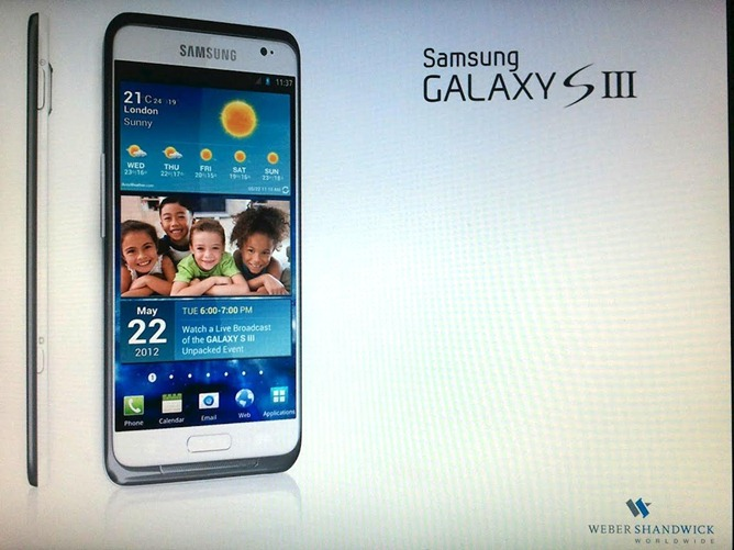 Galaxy S III na další fotografii