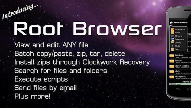 Root Browser: procházejte vnitřní strukturu telefonu efektivně!